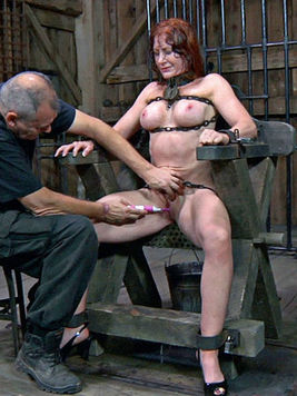 Redhead Catherine De Sade gets all her holes punished with cock or toys