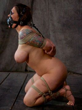 Big tit model Claire Dames knows that her fans love to see bizarre bondage galleries.