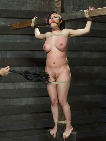 Kinky fetish babe Iona Grace twisted and tied up while her tits are teased and pegged.