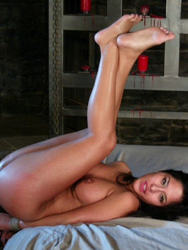 Sexy Jenaveve Jolie with tied hands gets mercilessly fucked by shaved headed Mark Davis