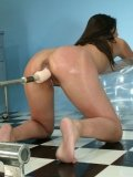 Tight ass brunette Gisselle gets her pussy drilled doggy style by the Predator