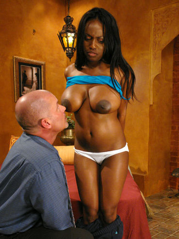 Busty black slave girl Jada Fire gets her asshole attacked by Mark Davis' fat white cock