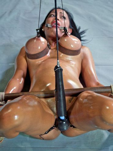 Oiled up Maxine X is one of the hottest bondage sex addicts that you will see.
