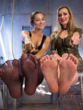 Tanya Tate and Dani Daniels have some latex foot fetish lesbian fun to make your day
