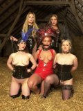 Bimba Sawacco, Peggy Sue, Susi M, Lady Marlen and Lady K in nice lezdom scene in the barn