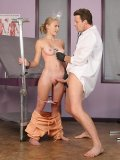 The kinky doc is giving the enema to his patient Sunset Diamond and examines her holes with cock.