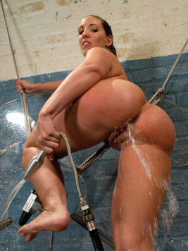 Kelly Divine is a horny chick with big melons and ass who enjoys squirting like crazy when she cums