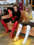 Gina Killmer and another kinky lady have WAM fun indoors and outdoors in snow