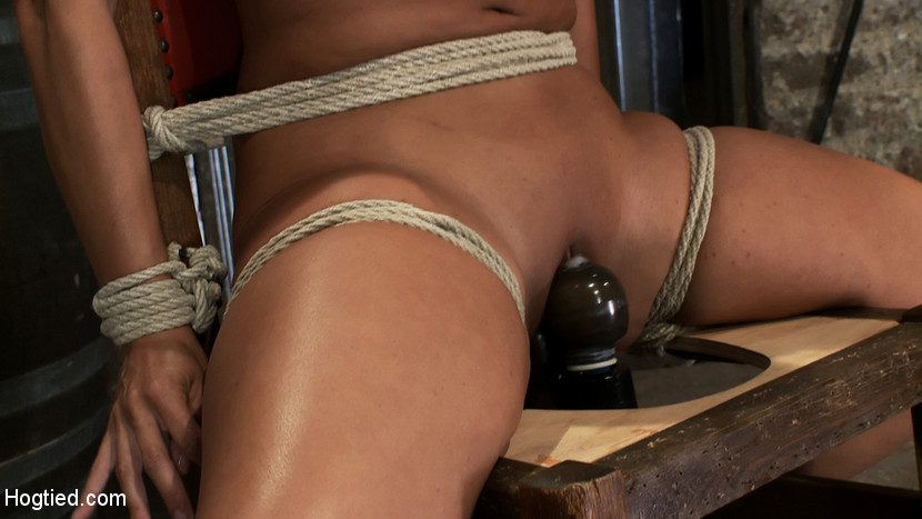 chair tied vibrator hone was