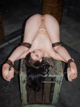 Mandy Muse strapped and getting her pale body stimulated and broken in hardcore bondage.