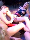 Peggy Sue and other latex loving lesbian ladies spread their long legs for each other