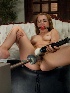 Pretty blonde Lexi Belle shows off her huge rounded ass and she gets screwed from behind roughly.