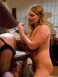 Aurora Snow and Amber Rayne stretch each others cornholes to the limit with hands and dildos