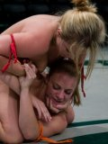 Mind bending wrestling match between cruel lesbians Kira Lynne and Alexa Von Tess
