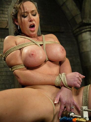 Sexy big tit milf Christina Carter gets dunked after torture and stimulation