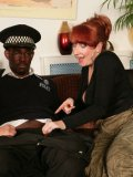 Red-haired milf Red XXX shares small black dick with curious blonde girl