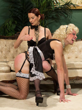 Maitresse Madeline is enjoying in hardcore femdom while making babes and hunks crawl around her.