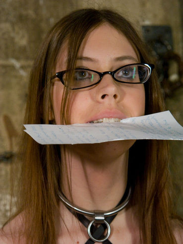 Bespectacled slave girl Kristine Kink gets tortured, humiliated and fucked by Maestro