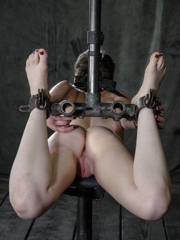 Hazel Roze brutally tied and gagged while her delicate privates are teased and bondage stimulated.