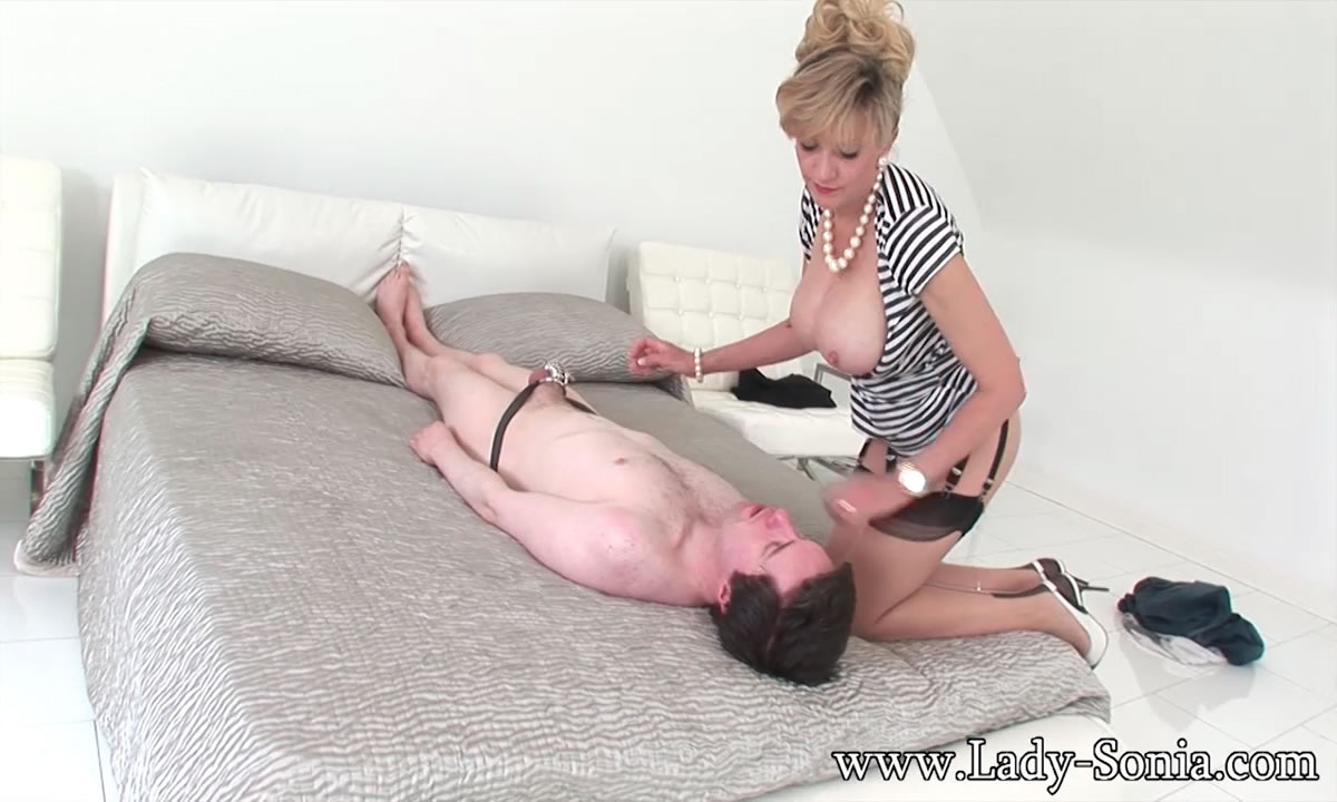 Femdom milf makes guy clean up his mess 2