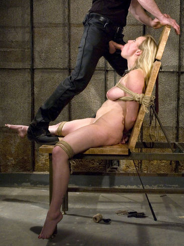 Hard dicked master can choose between pussy and ass of breasty slave Adrianna Nicole