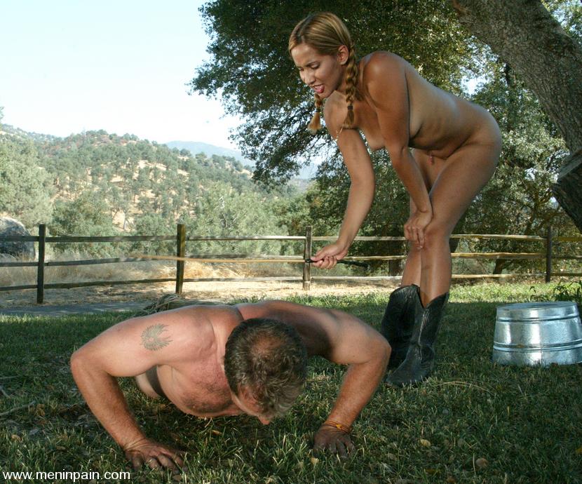 High heels sissy gym nude