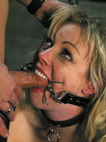 Rope bound Adrianna Nicole gets her ass spanked and fucked after giving head in suspension