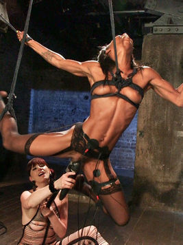 Marie Luv is a hot ebony who is bound and fucked by Maitresse Madeline's toys.