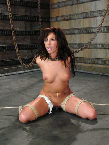 Wet dark haired slave girl Gina Caruso gets the torture of her lifetime