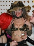 Kinky experienced domina Susan Block gets fondled by two red-haired girls