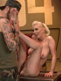 Cherry Torn is a very naughty girl with a fetish to give a footjob to army boys.