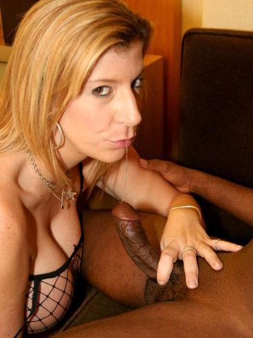 Busty big butt BBW slut Sara Jay in fishnet body stocking takes black boner