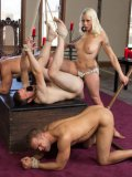 Lorelei Lee is a wicked mistress who whips, spanks and uses her male servants while they're hogtied