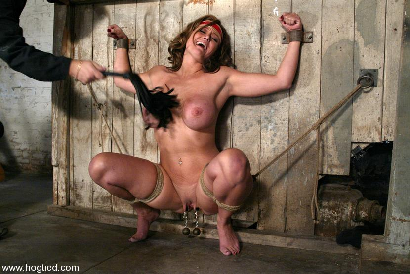 Christina carter hogtied bdsm