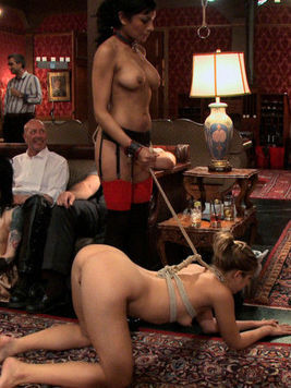 Dylan Ryan gets used up on a kinky fetish party and cries passionately during bondage.
