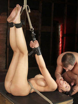 These are the crazy bdsm scenes with bound babe getting roughly packed in all poses.