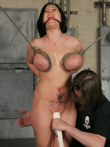 Curvy slave Claire Dames gets her massive tits, juicy ass and meaty pussy punished.